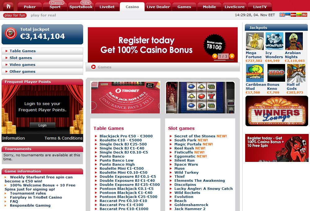 официальный сайт казино triobet официальный сайт